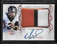 2018 Leaf Trinity MASON RUDOLPH 3 Color Patch Bronze Prismatic Auto RC Steelers