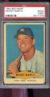 1954 Red Heart Dog Food Mickey Mantle NY Yankees PSA 2 (MK) Graded Baseball Card