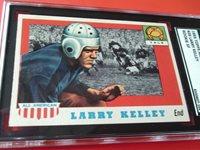 1955 LARRY KELLEY # 26 TOPPS SP ALL AMERICAN SGC 88 NEAR MINT/ MINT 8