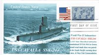 USS CAVALLA SSK-244 Navy Submarine Photo Cacheted Naval Cover Museum Sub FDC PM