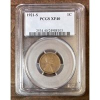 1921 S Lincoln Cent PCGS XF40 ***Rev Tye's Coin Stache*** #810335