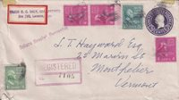 1948, Larime, Wy to Montpelier, VT, 1c, 20c & 4c X3 Prexie, See Remark (21851)