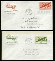 C25-C31 SET 7 FDC'S ALL ON HOUSE OF FARNAM CACHETS--2 ARE REGISTERED
