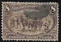 xsb168 Scott 289 US Stamp 1898 8c Troops Guarding Train Used