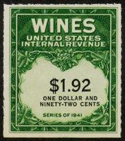 Scott RE152, VF NGAI, $1.92 Wine Stamp