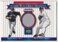 2004 Upper Deck World Series Edgardo Alfonzo Mariano Rivera Jersey