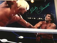 JSA AUTHENTICATED Ricky Steamboat AUTOGRAPHED WWE 8X10 WCW vs Ric Flair Picture