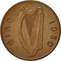 IRELAND REPUBLIC, Penny, 1980, AU(50-53), Bronze, KM:20