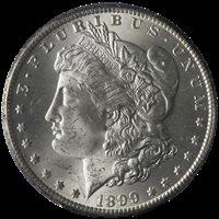 1899-O Morgan Silver Dollar PCGS MS64 Blast White Nice Strike STOCK