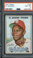 1967 Topps #195 Al Jackson PSA 8