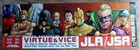 JSA JLA 2002 Virtue & Vice Geoff Johns Pacheco Goyer Merino DC PROMO Poster VF