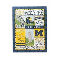 Michigan Wolverine Spirit Wall Canvas Glory Haus