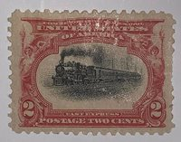 Travelstamps: 1901 US Stamps Scott #295 Fast Express mint og hinged MOGH