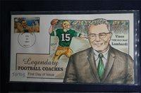 Legendary Football Coaches Vince Lombardi FDC Handpaint Collins#S2703 Sc#3145