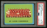 1963 Topps #157 Cardinals Team PSA 6 EX-MT #42841673