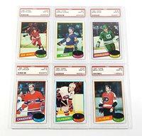 Lot of (6) 1980 Topps Hockey PSA 9 Cards Propp Potvin Howe Lafleur Dionne