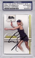 Anna Kournikova PSA/DNA Certified Autograph - 2007 Ace Authentic (Autographed Tennis Cards)