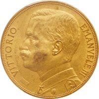 Italy, Emanuele III Female with plow 100Lire Gold KM50 AU 1912 (...