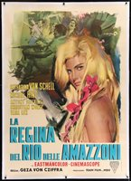LANA QUEEN OF THE AMAZONS Italian 2F movie poster 39x55 LINEN BACKED CESSELLON