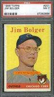1958 Topps 201 Jim Bolger PSA 7 (2686)