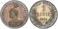GERMAN EAST AFRICA. Wihelm II. 1905-J AR Rupie. PCGS PR65. KM 10. Superbly toned