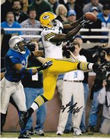 BUBBA FRANKS GREEN BAY PACKERS ACTION SIGNED 8x10