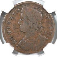 1786 N 5.4-G R-2 Connecticut Colonial Copper Coin