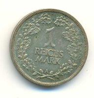 Germany Weimar Republic Silver 1 Reichsmark 1926 A VF/XF