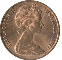 Australia Elizabeth II. 2 Cents 1977 EF #WT8457