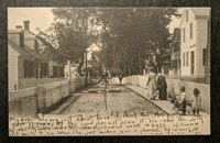 1924 Town Scene Provencetown MA to Medford MA Real Picture Postcard RPPC Cover