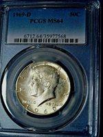 1969-D 50C Kennedy Half Dollar-PCGS MS64--430-1