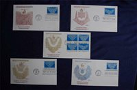 Folk Art Series Lacemaking 22c Stamps 5 FDCs Fleetwood Sc#2351-54 FW1114