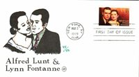 #3287 Alfred Lunt and Lynn Fontanne Wilson FDC (15419993287001)