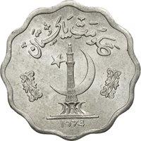 Coin, Pakistan, 10 Paisa, 1974, AU(55-58), Aluminum, KM:36