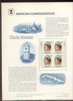 #1699 13c Nurse Clara Maass Stamp USPS #69 Commemorative Stamp Panel