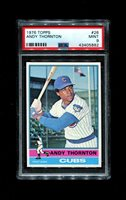 1976 ANDY THORNTON TOPPS #26 CUBS PSA 9