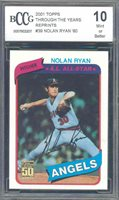 2001 topps through the years reprints #39 NOLAN RYAN '80 astros BGS BCCG 10