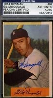 GIL MCDOUGALD 1954 BOWMAN SIGNED PSA/DNA AUTOGRAPH AUTHENTIC