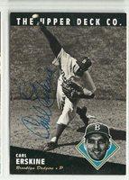 Carl Erskine 1994 Upper Deck Heroes autographed card Brooklyn Dodgers