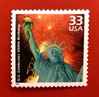 Statue of Liberty 200th Birthday - One Genuine US Postage Stamp
