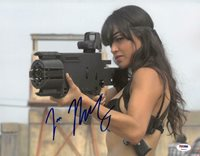 Michelle Rodriguez Signed Machete Kills Autographed 11x14 Photo PSA/DNA #Y92022