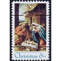 #1414d Christmas Nativity Precancel, Type II