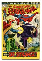 AMAZING SPIDER-MAN 109 JUNE 1972; Dr. strange cover & story.