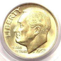 1952-D Roosevelt Dime 10C - PCGS MS67 FB - Rare in MS67 FT - $250 Value!
