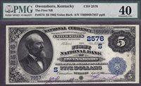 Fr.-574 1882VB NBN $5 Owensboro, KY Chtr. #2576 PMG EF-40