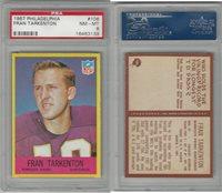 1967 Philadelphia Football, #106 Fran Tarkenton HOF, Vikings, PSA 8 NMMT