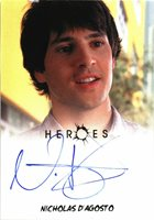 Rittenhouse 2010 Heroes Archives Autograph Card Nicholas D'Agosto as West Rosen