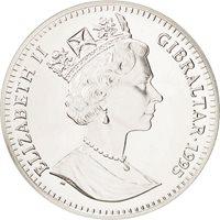 Gibraltar, Élisabeth II, 21 Ecus 1995, UE - Autriche, Finlande et Suède, KM 498