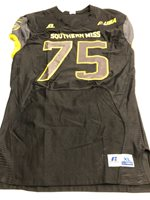 Game Worn Used Southern Mississippi Golden Eagles Football Jersey XL #75