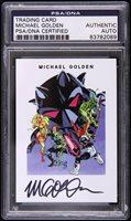 2014 Michael Golden Micronauts Comic Artist Signed Trading Card PSA/DNA Slabbed